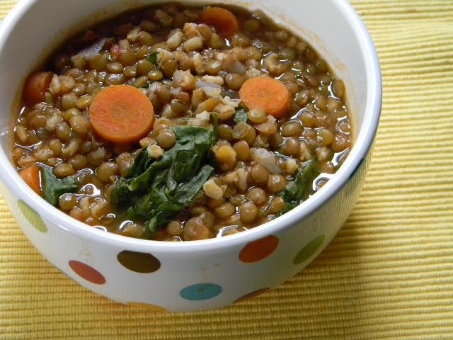 lentil barley vegetable soup