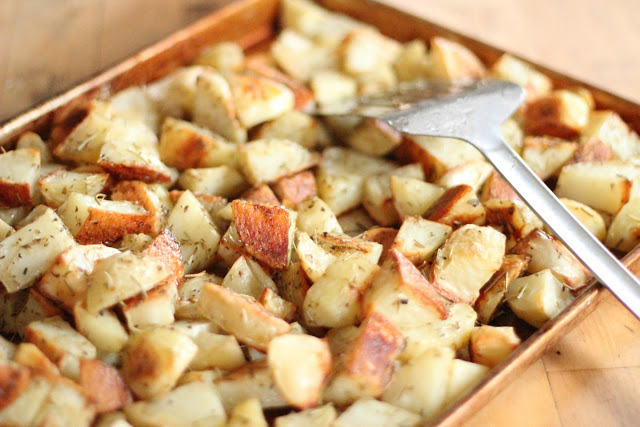 Rosemary and Oregano Roasted Potatoes