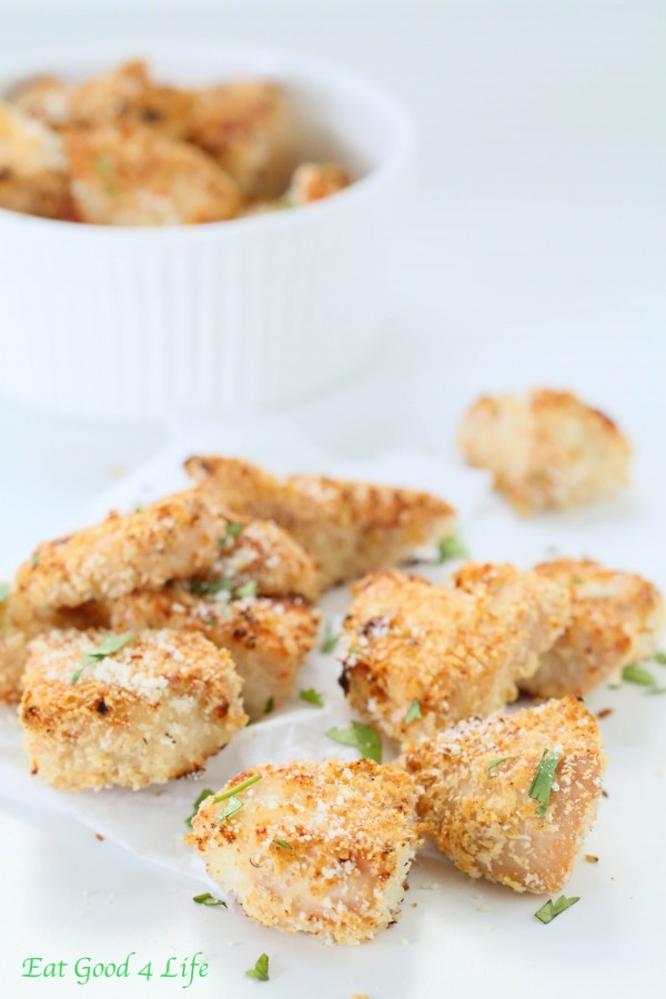 Panko Crusted Baked Chicken Nuggets | Back To School Clean Eating Snacks | Homemade Recipes