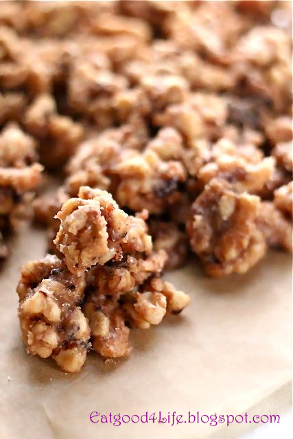 Cinnamon sugared walnuts