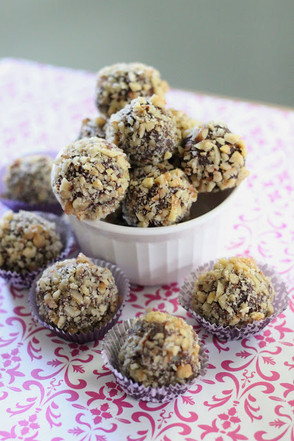 rum dark chocolate truffles