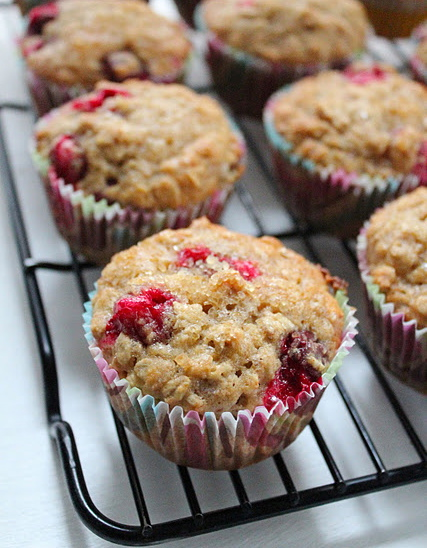 Cranberry and oatmeal muffins from eatgood4life.com