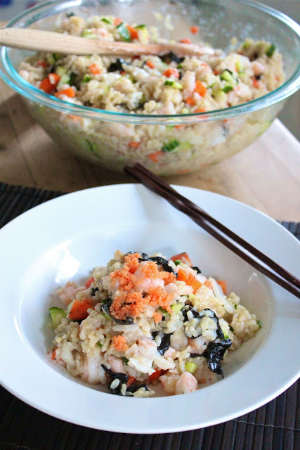 Brown rice Sushi salad