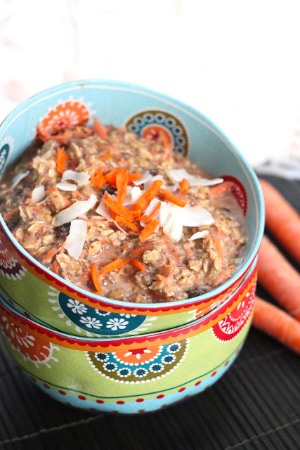 Carrot cake oatmeal from eatgood4life.com