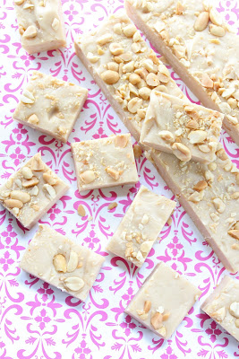 Organic peanut butter and white chocolate fudge from eatgood4life.com