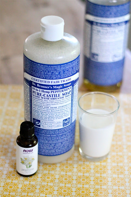 Homemade coconut shampoo