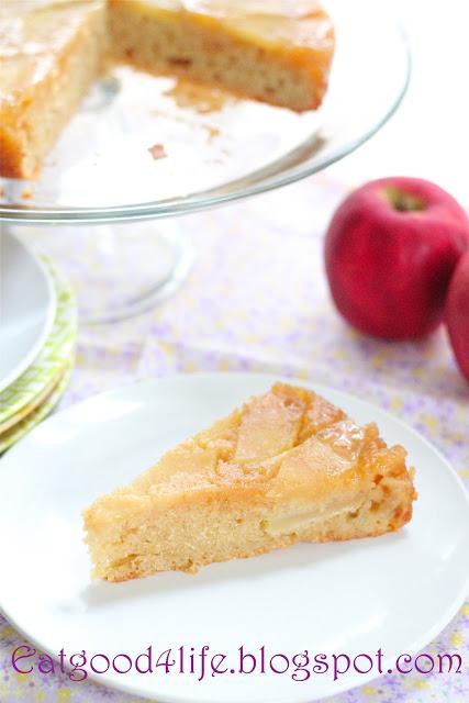 Honey upside down apple cake