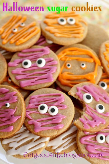 100 Whole Wheat Halloween Sugar Cookies