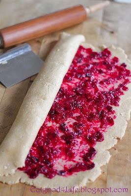 Whole wheat cranberry cinnamon rolls