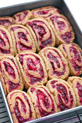 Whole wheat cranberry cinnamon rolls
