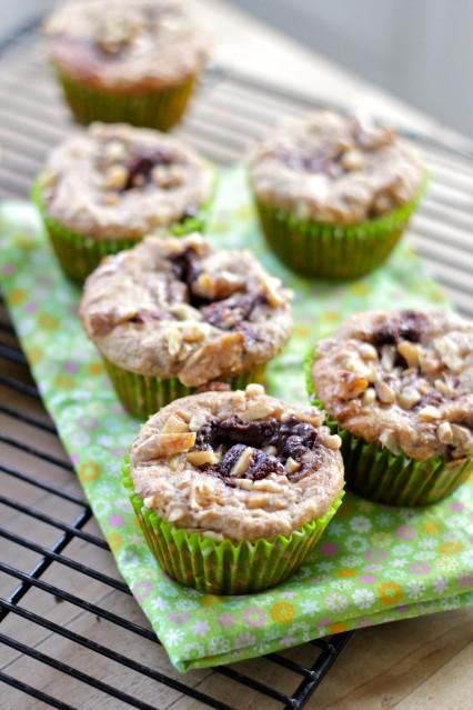 Skinny Nutella and Walnut breakfast muffins