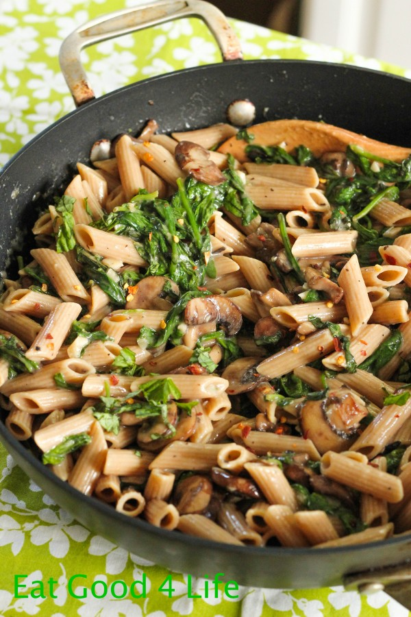 with this Creamy mushroom and spinach pasta. I am really big on pasta ...