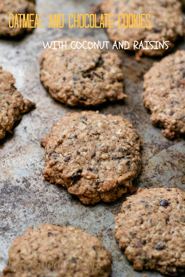Oatmeal and chocolate cookies:Eatgood4life.com