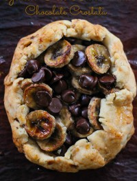 Gluen free banana and chocolate crostata+jpg2:Eatgood4life.com