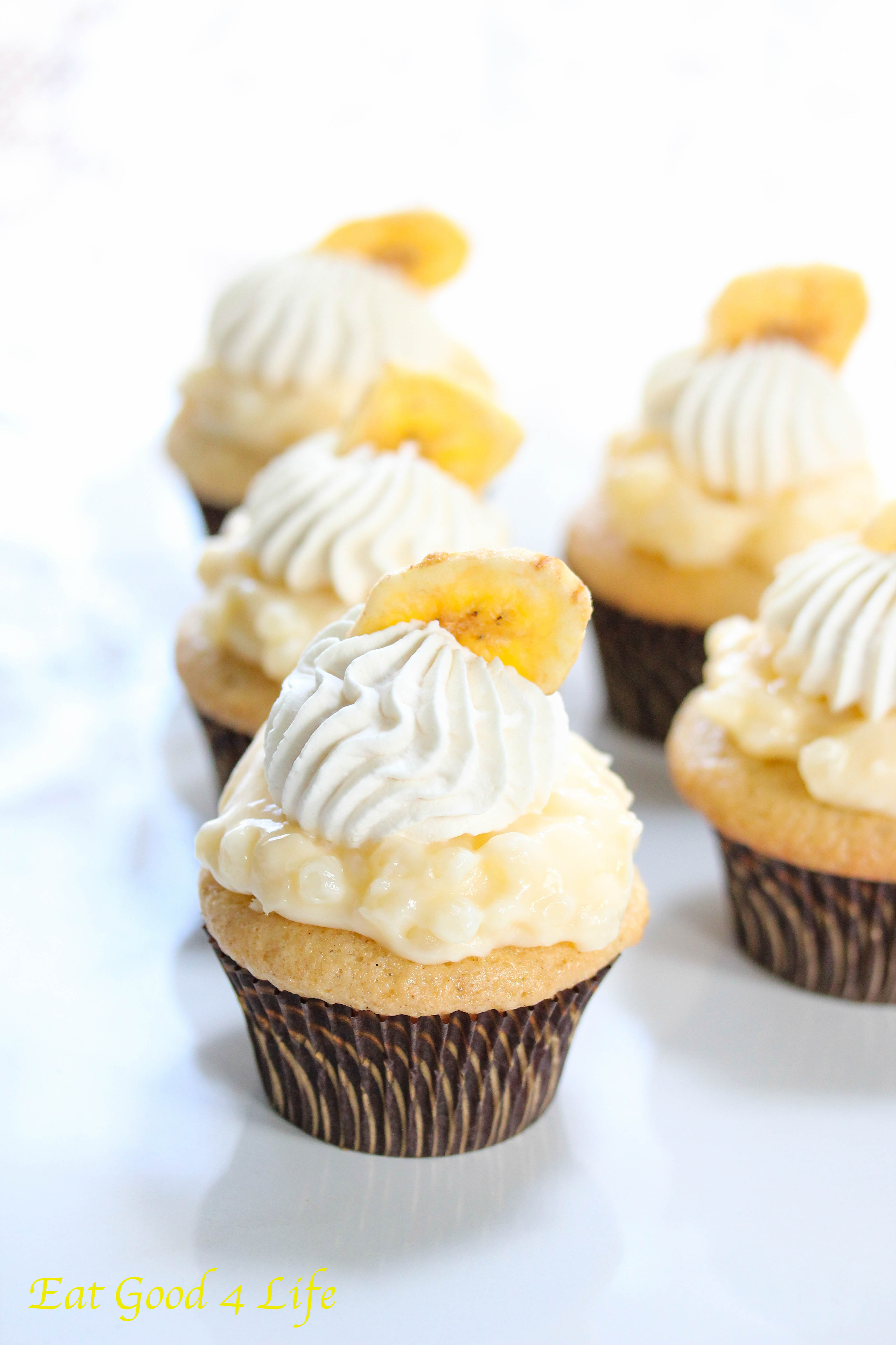 Banana Cupcakes Using Vanilla Cake Mix