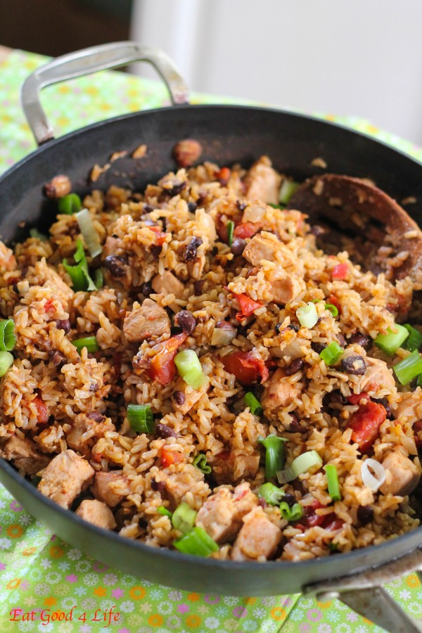 No-fuss Black beans, chicken and rice