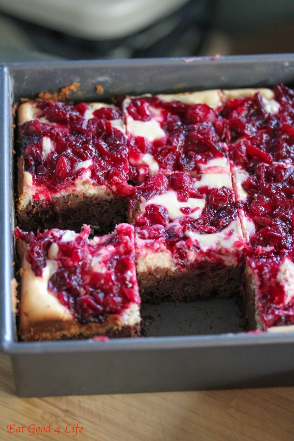 Cranberry cheesecake brownies