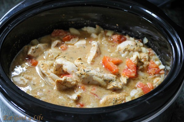 Slow cooke Caribbean peanut chicken2: Eatgood4lfie.com