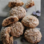 Gluten free almond butter and oatmeal chocolate chip cookies 2: Eatgood4life.com