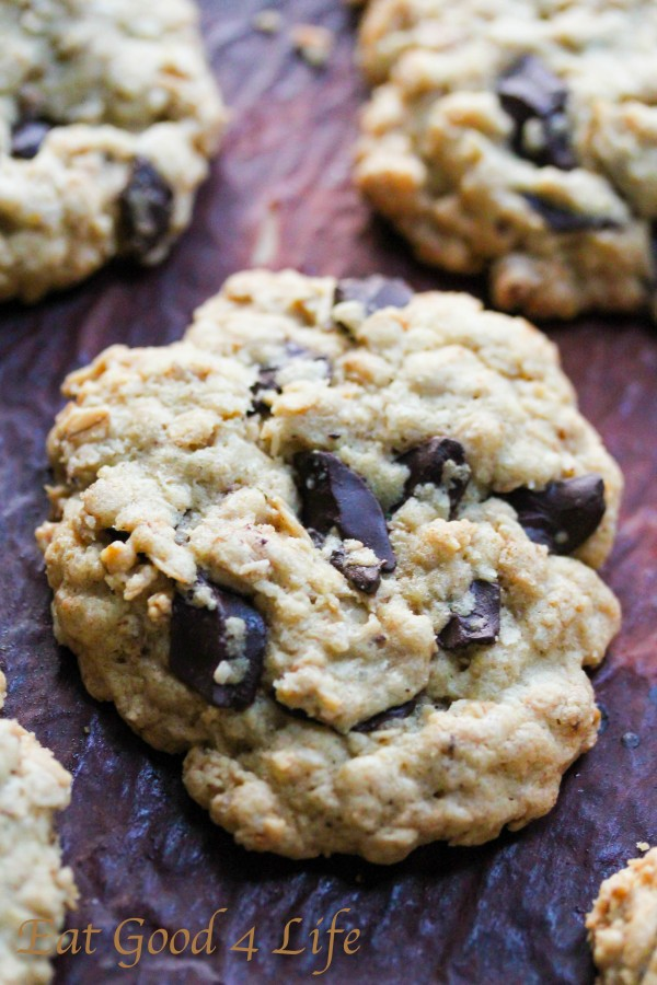 gluten free oatmeal chocolate chunk cookies