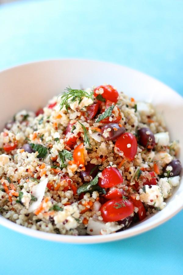 Mediterranean quinoa salad from eatgood4life.com