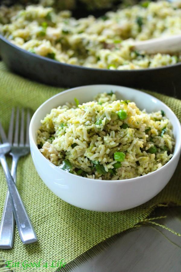 Avocado lime and cilantro rice
