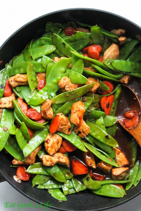 Black bean chicken stir fried