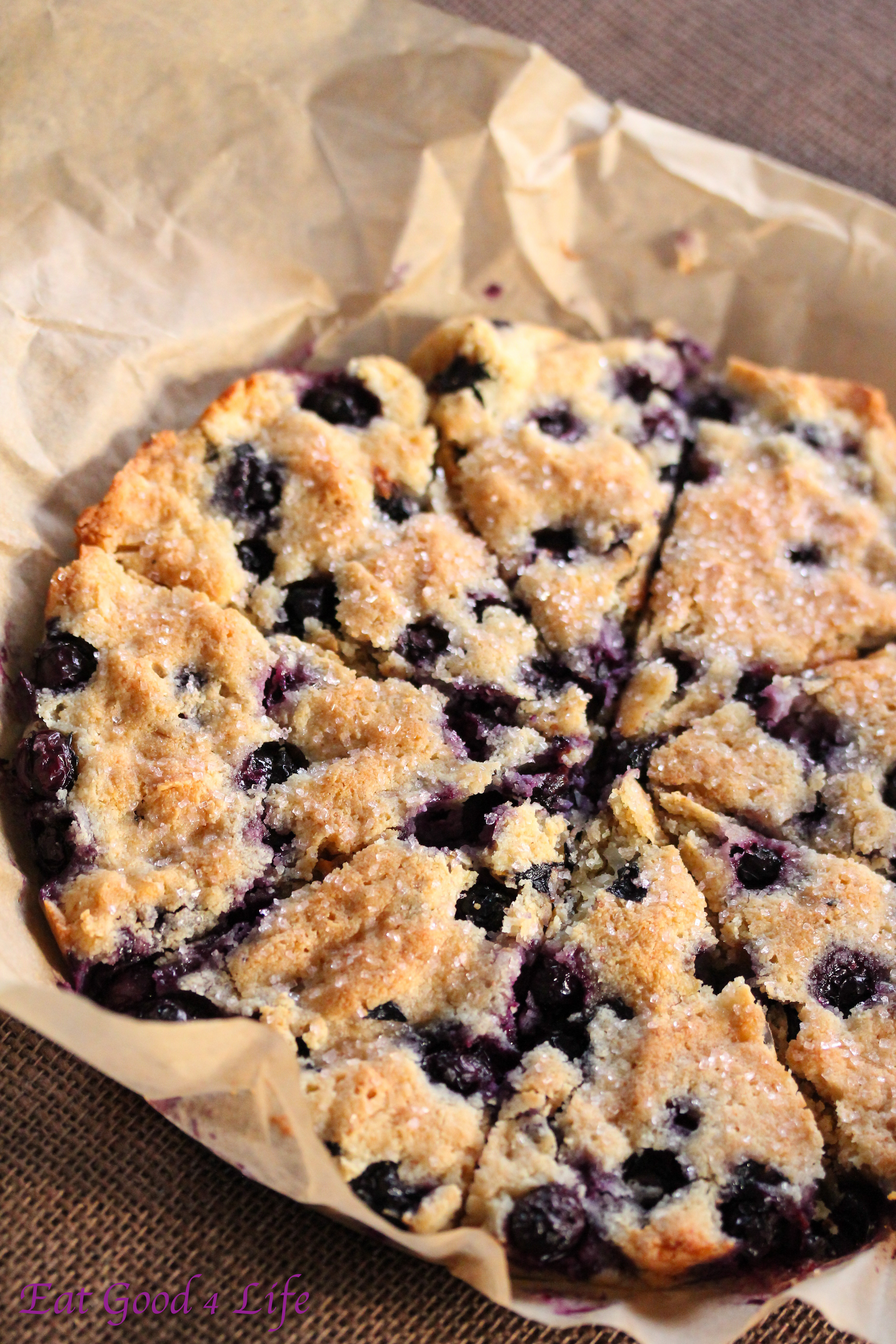Gluten free blueberry and coconut scones