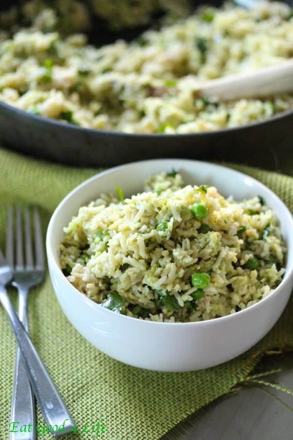 Avocado, lime and cilantro rice