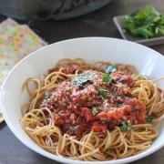 Mushroom ragu pasta