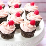Gluten free chocolate cupcakes with white chocolate frosting