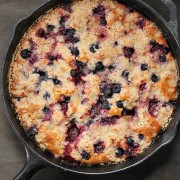 Mixed berry ginger crumb cake from eatgood4life.com
