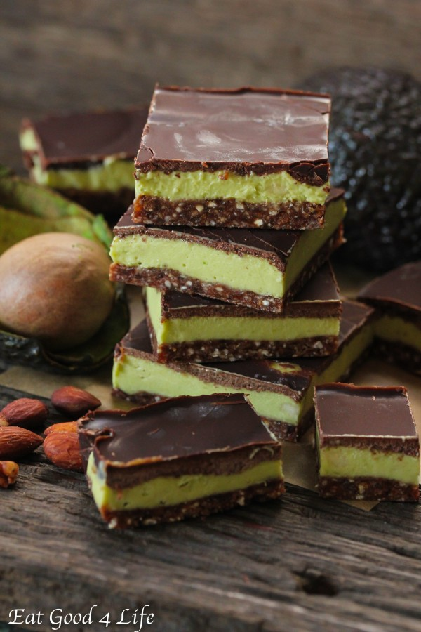 avocado mint cream bars