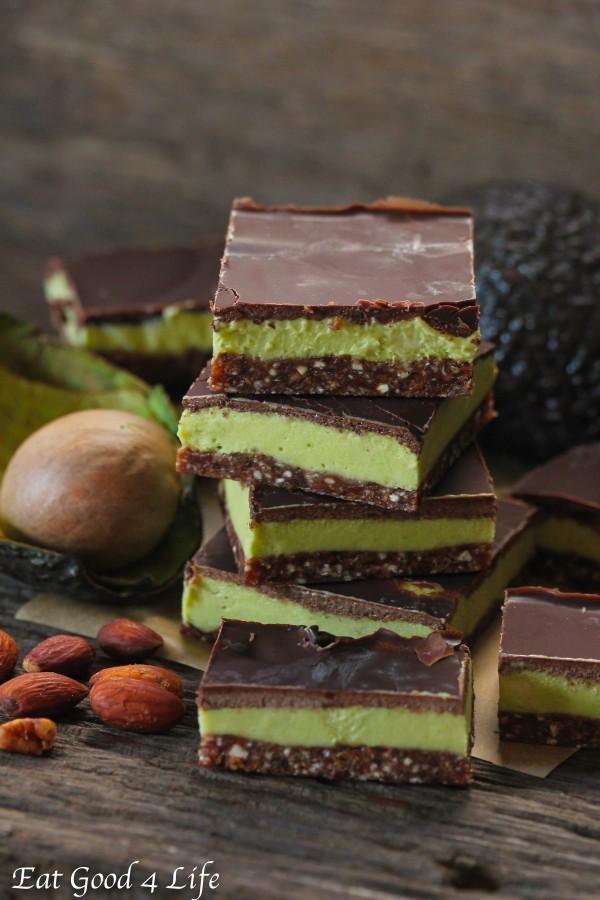 avocado mint cream bars