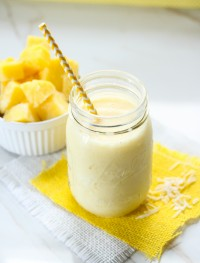pineapple and coconut slushy