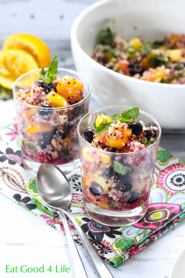 quinoa mixed fruit salad