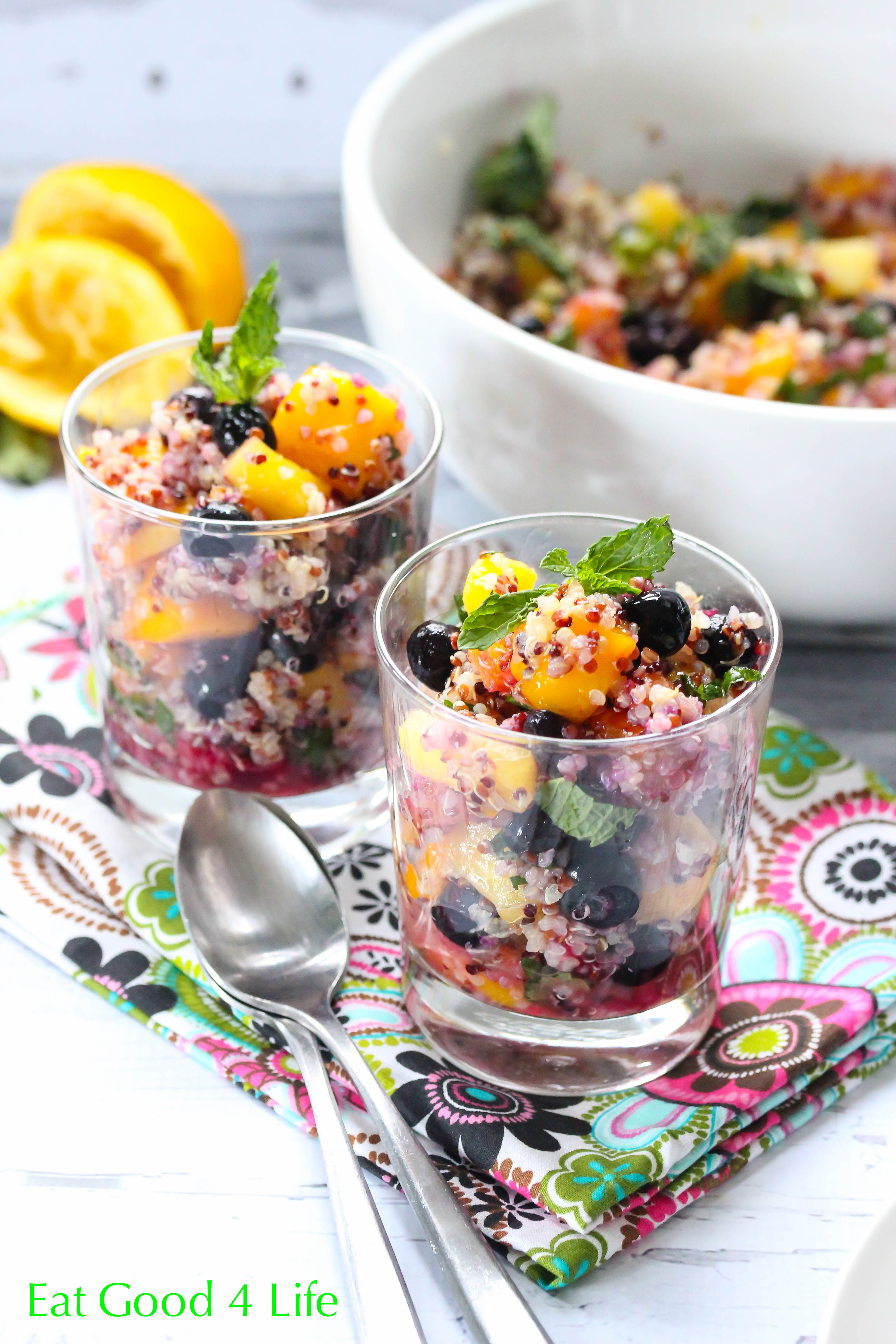for many of my meals and desserts. This quinoa mixed fruit salad ...