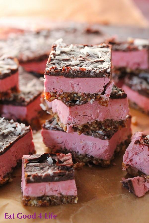Raspberry cream bars