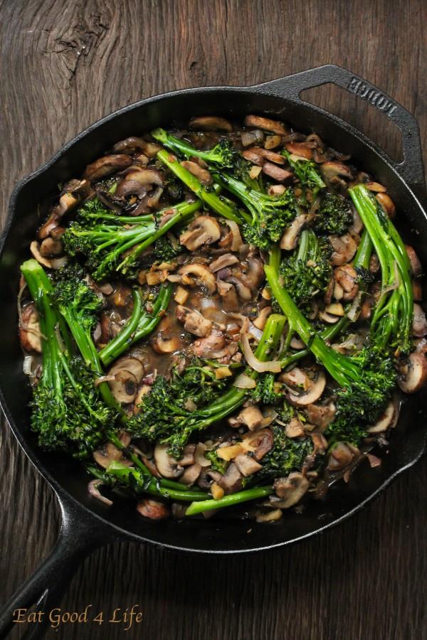 Broccolini And Mushroom Stir Fry