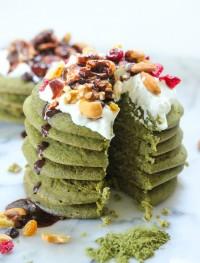 gluten free green tea protein pancakes