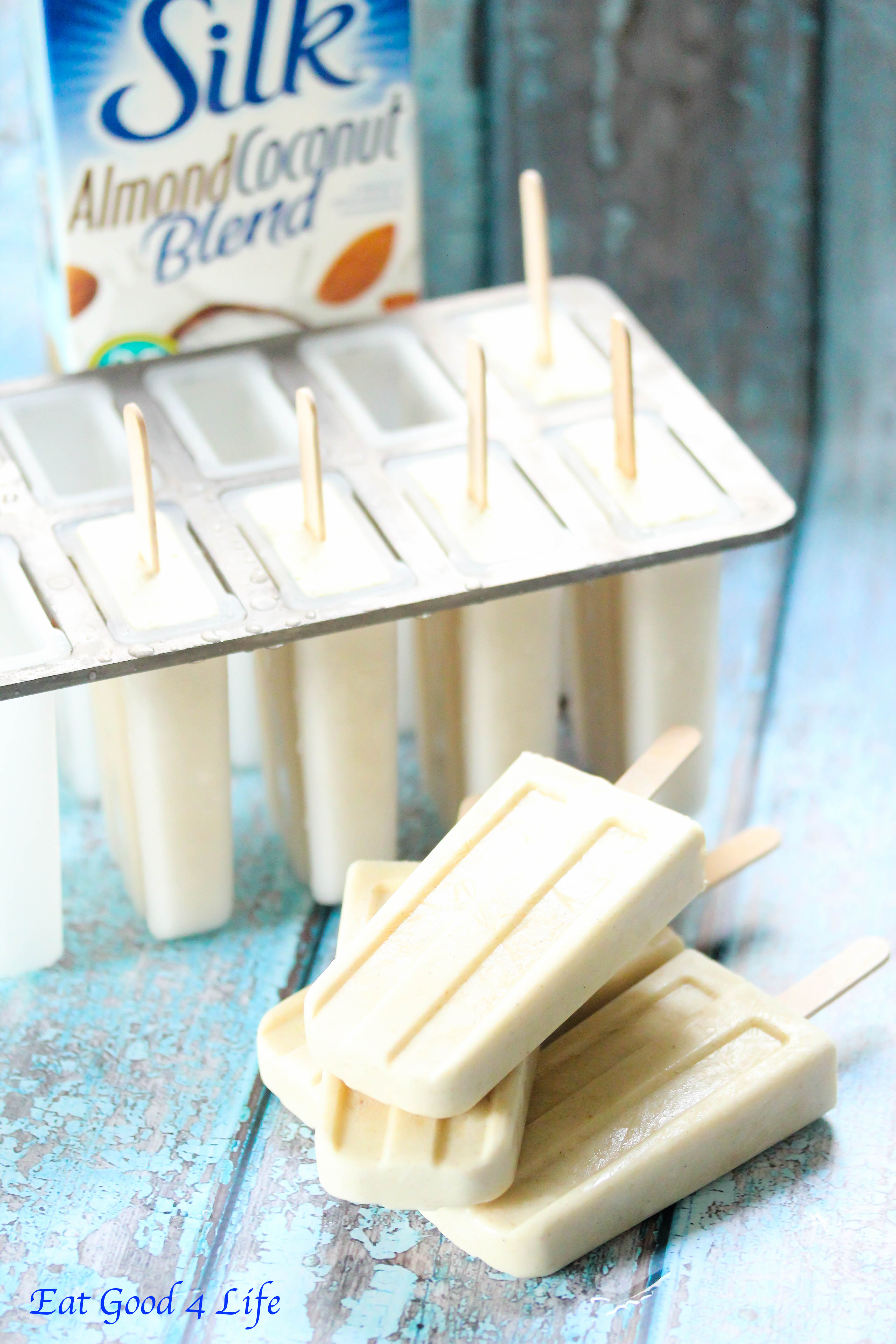 Licorice and coconut popsicles