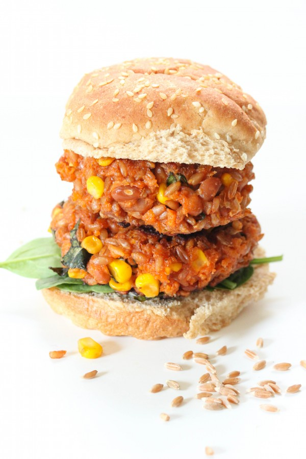 farro bean burger