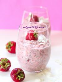 strawberry coconut overnight oats