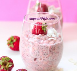 strawberry coconut overnight oats