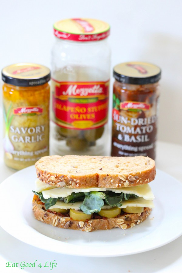 sun dried tomato and kale grilled cheese sandwich