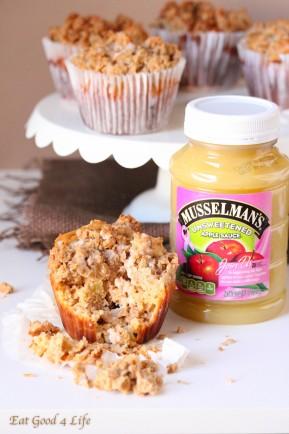 Apple coffee cake jumbo muffins
