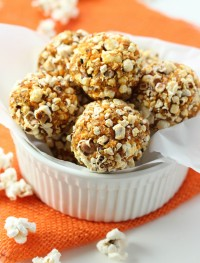 popcorn energy balls-gluten free and vegan