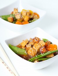 asian orange tofu