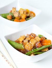 asian orange tofu