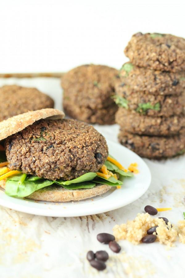 Quinoa black bean burgers-gluten free